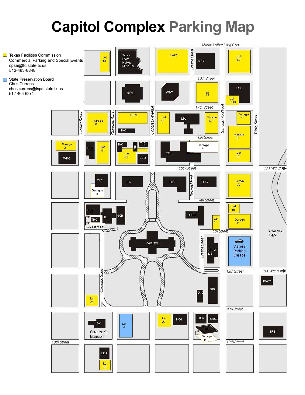 Commercial Parking And Special Events Mystery Parker Program - Map of us capitol grounds