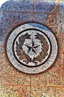 state seal on building